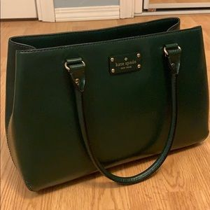 Sturdy dark green leather Kate Spade purse